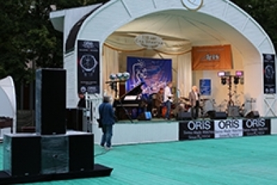 "REC acoustic systems (CS Series) at the International Festival ""Jazz in the Hermitage Garden"", Moscow, Russia (""Aris-Pro"")"